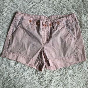 Anthropologie Shorts - Anthropologie Paper Boy Light Pink Twill Shorts